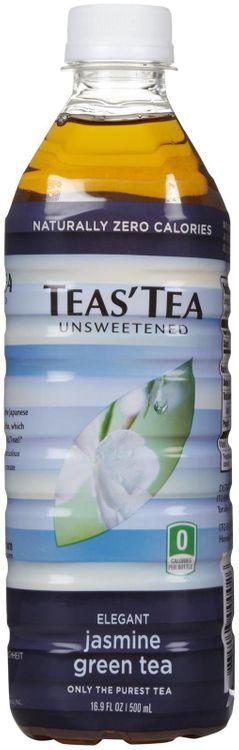 Teas Tea Tea's Tea Green Tea - Unsweetened Jasmine - 16.9 oz - 12 ct
