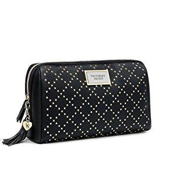 Victoria's Secret Black Studded Beauty Cosmetic Bag