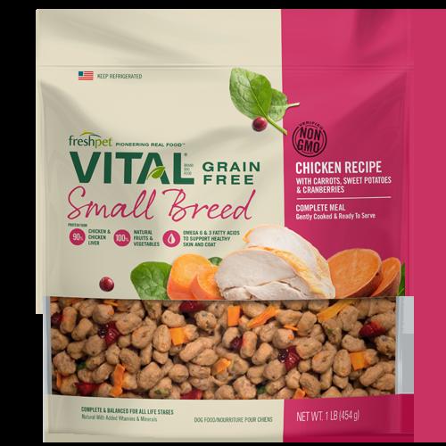 freshpet® VITAL® Small Breed Grain Free Chicken Dog Food Recipe