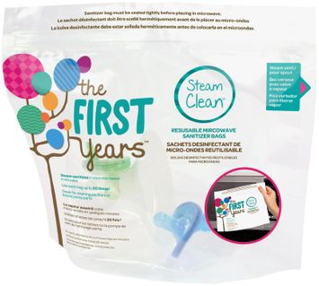 The First Years Steam Clean Reusable Microwave Sterilizer Bags - 1 ct.
