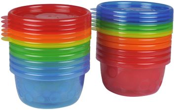 The First Years Toddler Bowls with Lids - 8 oz - Multicolor - 12 pk
