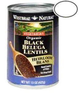 Westbrae Natural Organic Black Lentils - 12 pk.