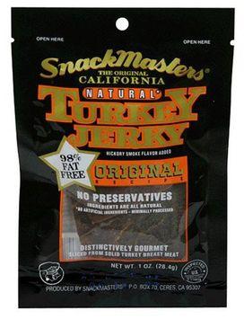 SnackMasters California Style Turkey Jerky, Original, 12 pk
