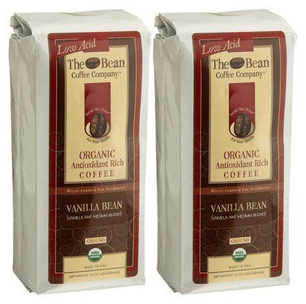 The Bean Coffee Company Vanilla Bean (Vanilla Nut Medium Blend), Organic Ground, 16 oz Bags, 2 pk