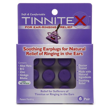 Tinnitex Soothing Earplugs for Natural Relief of Ringing in the Ears