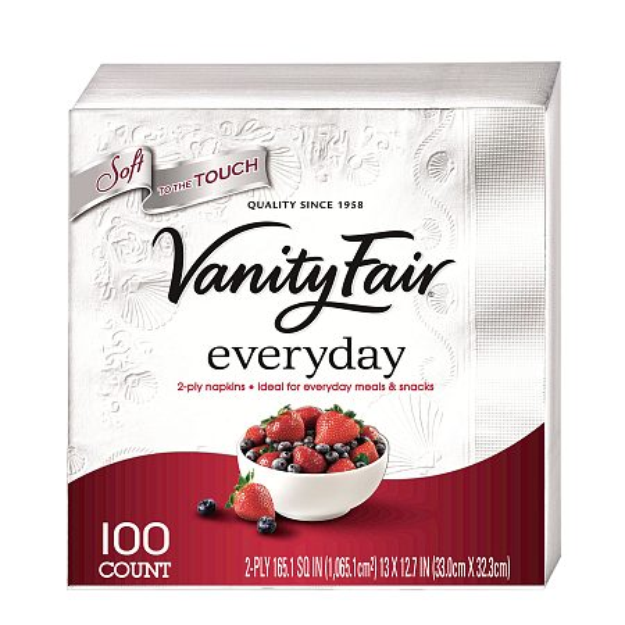 Vanity Fair Napkins, All-Occasion, 100 ea