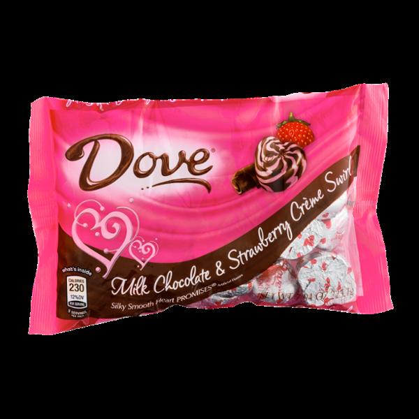Dove Chocolate Milk Chocolate & Strawberry Creme Swirl Heart Promises