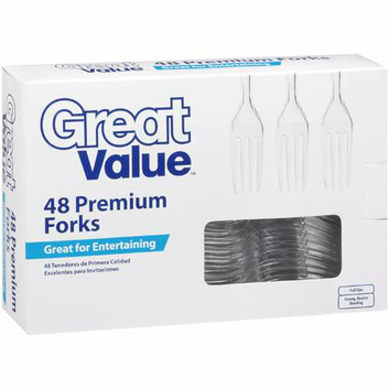 Great Value Premium Clear Forks