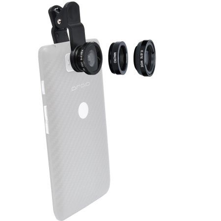Zuma 3-in-1 Clip-on Fisheye Macro & .67x Wide-Angle Lens Set for Smartphones & Tablets