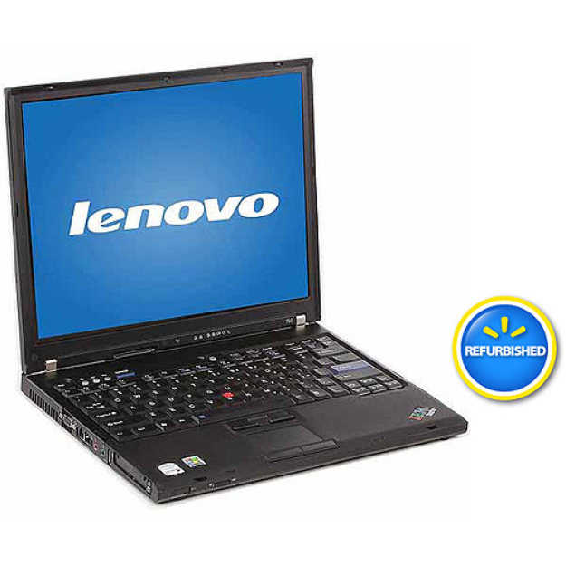 "Thinkpad Lenovo Refurbished Black 14.1"" T61 Laptop PC with Intel Core 2 Duo Processor, 4GB Memory, 750GB Hard Drive and Windows 7 Home Premium"