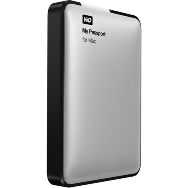 Western Digital WD My Passport for Mac 500GB Portable Hard Drive - Silver