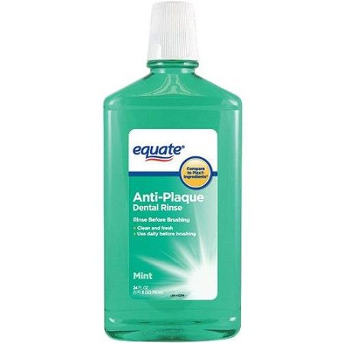 Equate Anti-Plaque Mint Dental Rinse, 24 fl oz