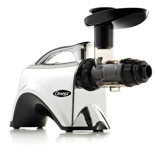 Omega NC900HDC Masticating Juicer, Chrome Slow Speed Nutrition Center