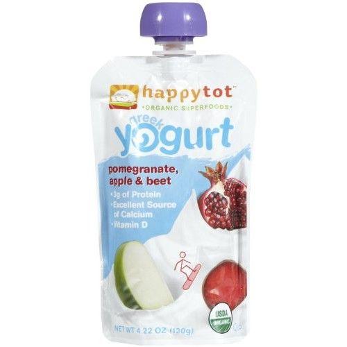 Happy Family happy tot Purees - Greek Yogurt Pomegranate Apple & Beet - 4.22 oz - 8 pk