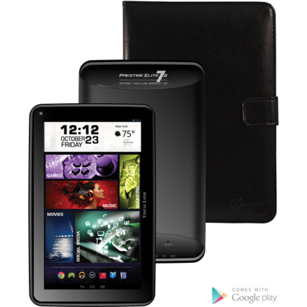 """Visual Land Prestige Elite 7Q with WiFi 7"""" Touchscreen Tablet PC Featuring Android 4.4 (KitKat) Operating System"""