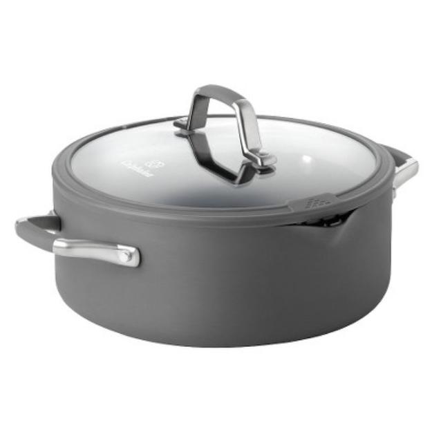 Calphalon Kitchen Essentials Easy System 5 Quart Dutch Oven - Gray