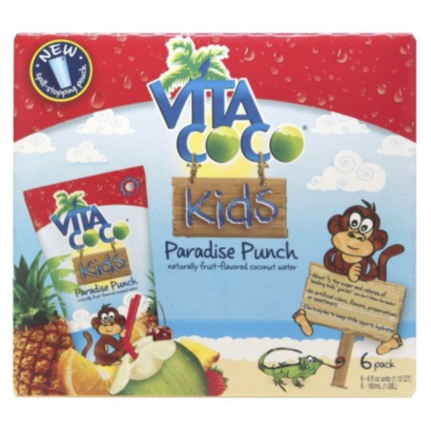 Vita Coco Kids Paradise Punch Fruit-Flavored Coconut Water 6 oz 6 ct