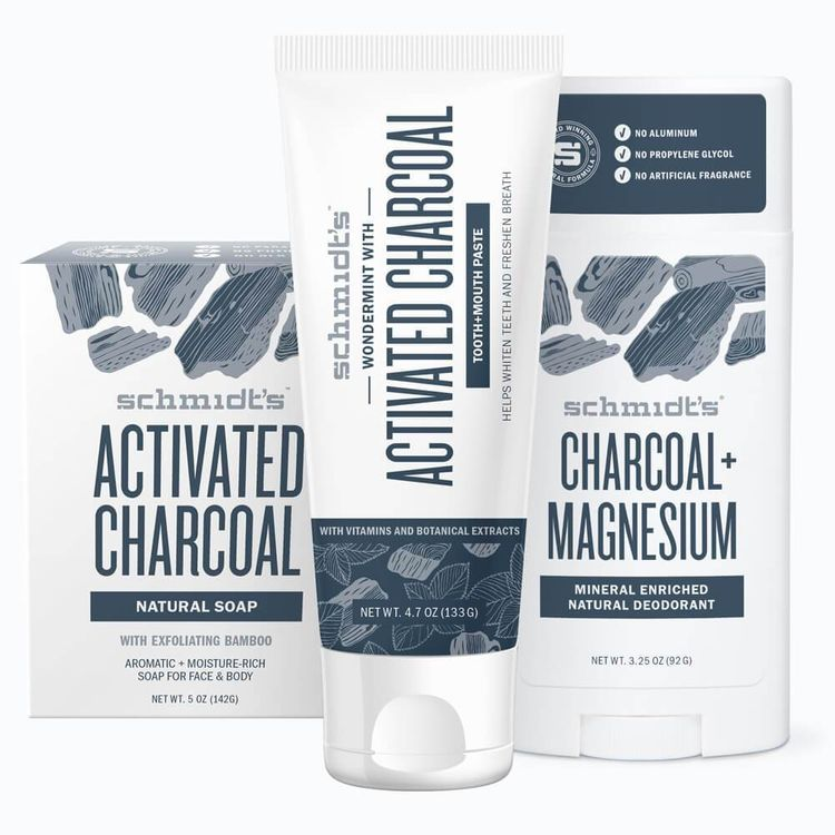 Schmidt's Activated Charcoal 3-Pack