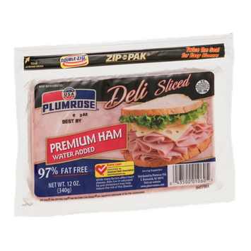 Plumrose Deli Sliced Premium Ham Water Added