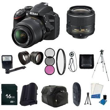 Bolton's Nikon D3200 24.2 MP CMOS Digital SLR with 18-55mm f/3.5-5.6 AF-S DX VR Lens (Black) + EN-EL14 Replacement Li-on Battery