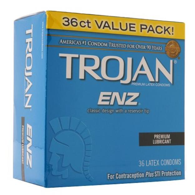 Trojan-Enz Premium Lubricant Latex Condoms