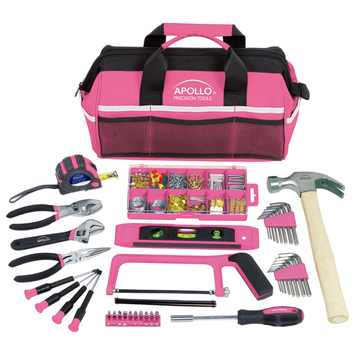 Apollo Tool Sets Household Tool Kit in Soft-Sided Tool Bag, Pink (201-Piece) DT0020P