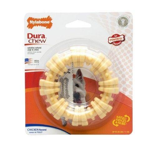 Nylabone Dura Chew Textured Ring, Chicken Flavor