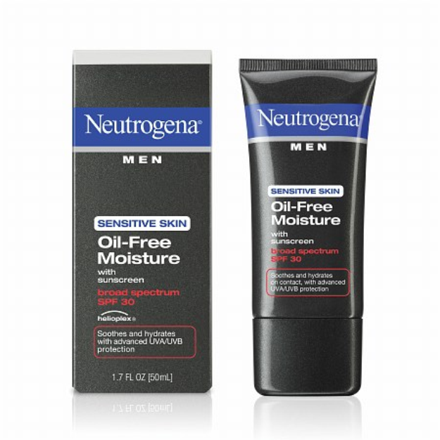 Neutrogena® Men Sensitive Skin Oil-Free Moisture Broad Spectrum SPF 30