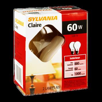 Sylvania Clear 60 Watt Indoor Light Bulb