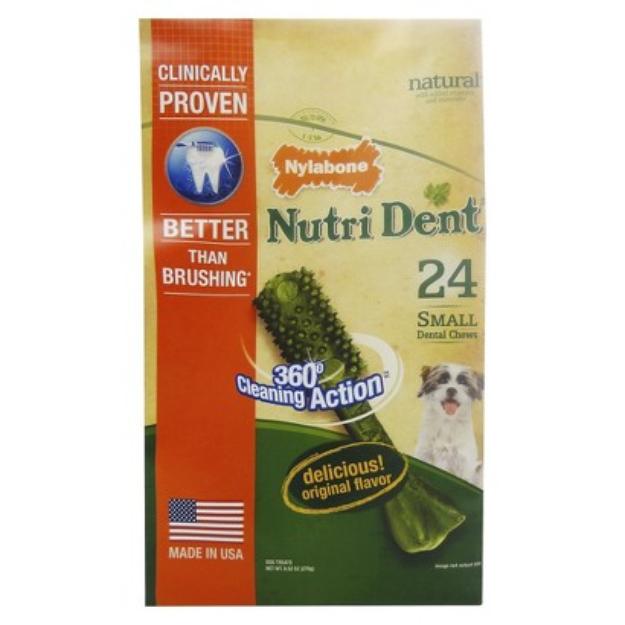 Nylabone Nutri Dent Edible Dental Chew - 24ct.