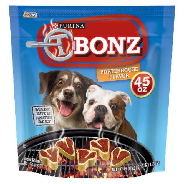 Purina TBonz T Bonz Porterhouse Flavor Dog Snacks - 45 oz