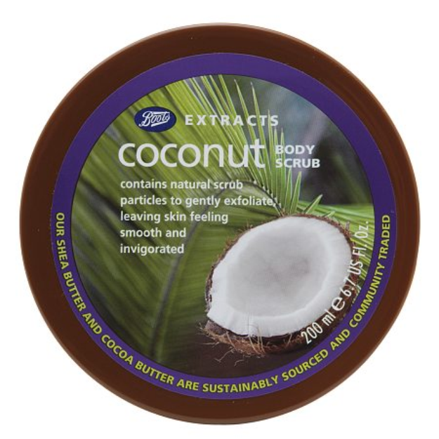 Slide: Boots Extracts Body Scrub Coconut