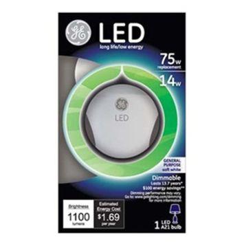 GE Lighting 89993 LED 14-watt 1100-Lumen Dimmable A21 Light Bulb with Medium Base, Soft White, 1-Pack [Soft White (2700K), A21; 1100 lmns]