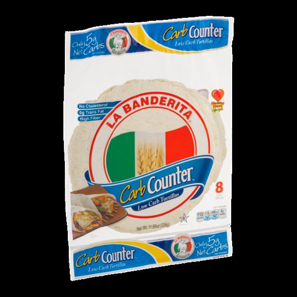La Banderita Carb Counter Low Carb Tortillas - 8 CT