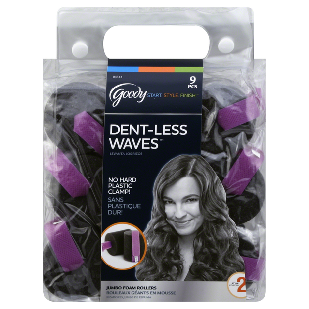 Goody Dent-less Waves Foam Rollers, 9 CT