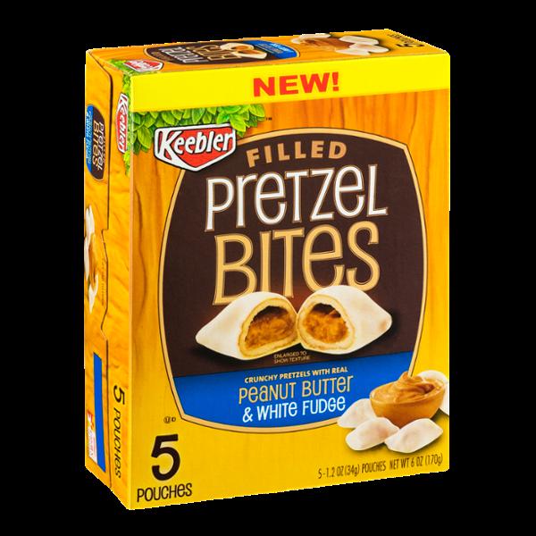 Keebler Filled Pretzel Bites Peanut Butter & White Fudge