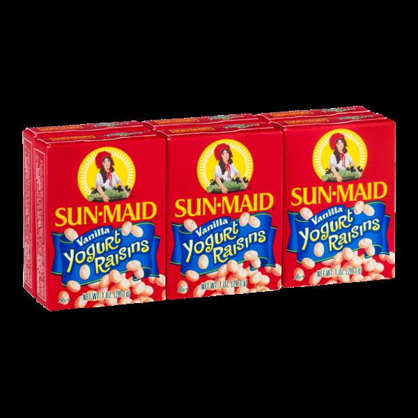 Sun-Maid Yogurt Raisins Vanilla - 6 PK