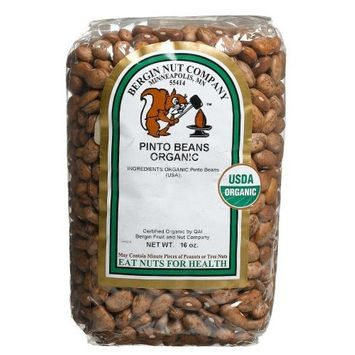 Bergin Nut Company Organic Pinto Beans, 16-Ounce Bags (Pack of 6)