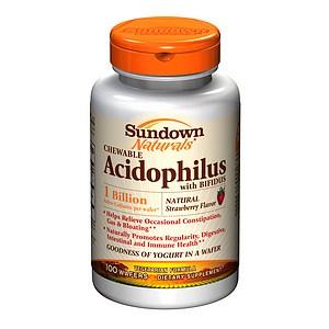 Sundown Naturals Chewable Acidophilus with Bifidus