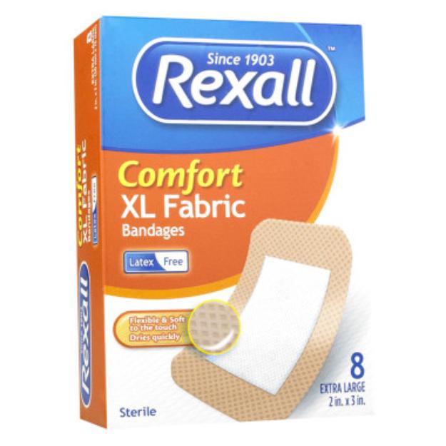 "Rexall Comfort XL Fabric Bandage - 2"" x 3"", 8 ct"