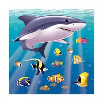 Beistle 58158 Under The Sea Beverage Napkins - Pack of 12