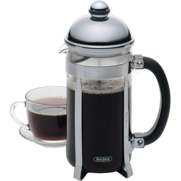 Bonjour Maximus Brushed Stainless Steel 8-Cup French Press Coffee