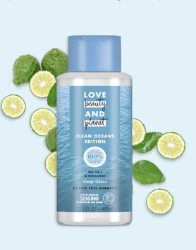 Love Beauty And Planet Deep Detox Cleansing Shampoo Clean Oceans Edition Sea Salt and Bergamot Sulfate Free