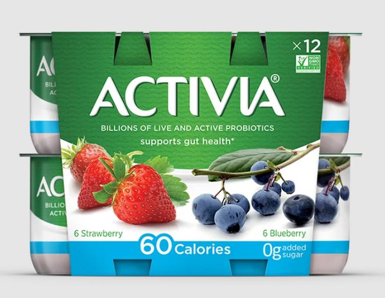 Activia Light Strawberry/Blueberry 12X40Z