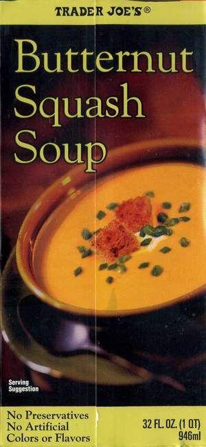 Trader Joe's Butternut Squash Soup