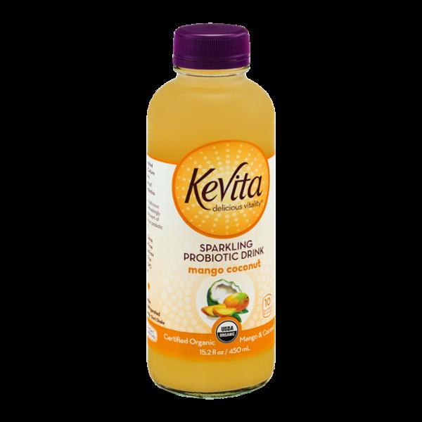 KeVita Delicious Vitality Sparkling Probiotic Drink Mango Coconut