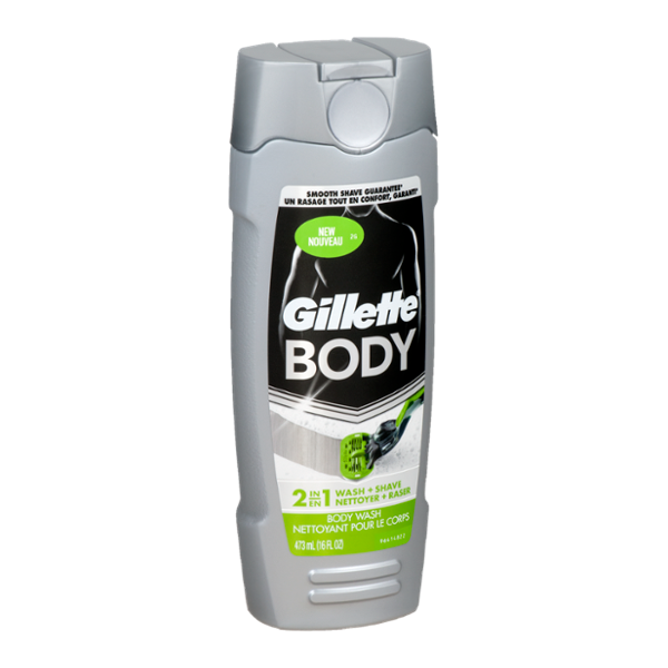 Gillette Body Wash 2 In 1 Wash Shave