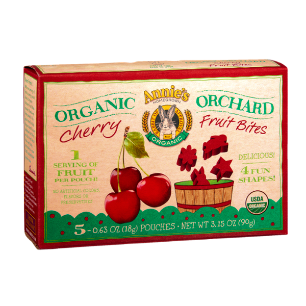 Annie's® Homegrown Organic Orchard Cherry Fruit Bites