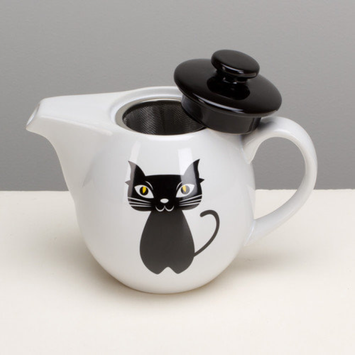 Omniware Chat Noir Teapot with Infuser