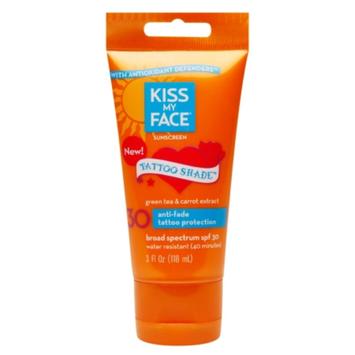 Kiss My Face Sunscreen Tattoo Shade SPF 30 Lotion, 3 oz